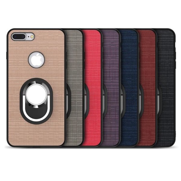 iPhone 7  PLUS- Stilrent Silikonskal med Ringhållare FLOVEME Röd