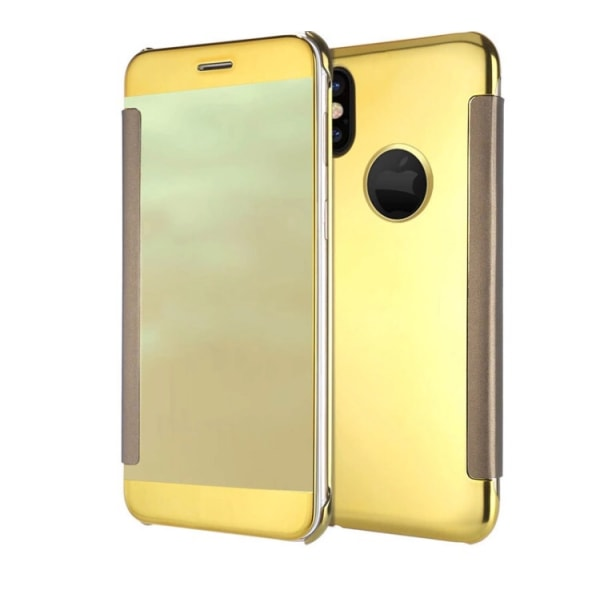 iPhone X/XS - Stilrent fodral i Clear View Guld