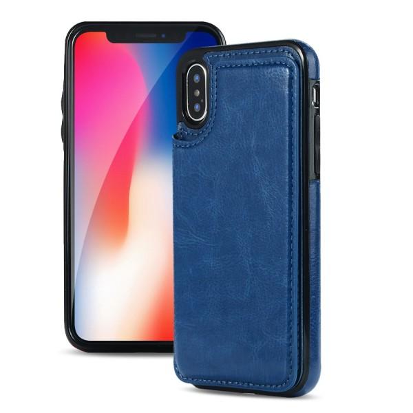 iPhone XR - Elegant Plånboksskal Marinblå