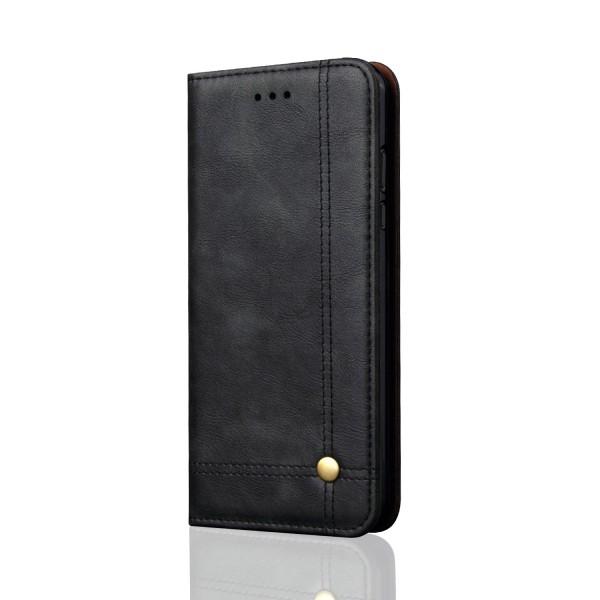 LEMANS populära Plånboksfodral till Samsung Galaxy A6 Plus Svart