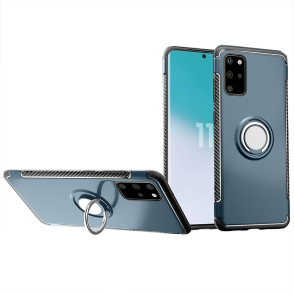 Skyddsskal med Ringhållare - Samsung Galaxy S20 Plus Petrol