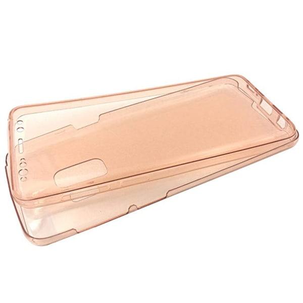 Elegant Dubbelsidigt Silikonskal Touchfunktion Samsung A6 2018 Blå