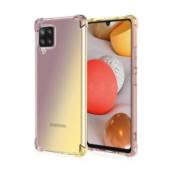 Samsung Galaxy A12 - Elegant Stötdämpande Floveme Silikonskal Svart/Guld
