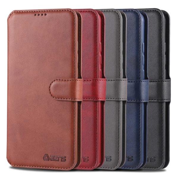 Samsung Galaxy A20E - Skyddande Plånboksfodral Röd