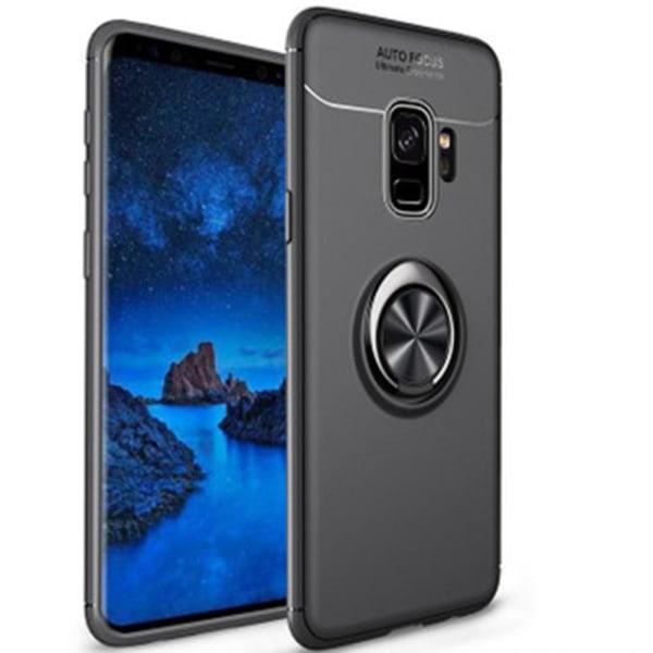 Samsung Galaxy A6 2018 - Skal med Ringhållare Svart/Svart