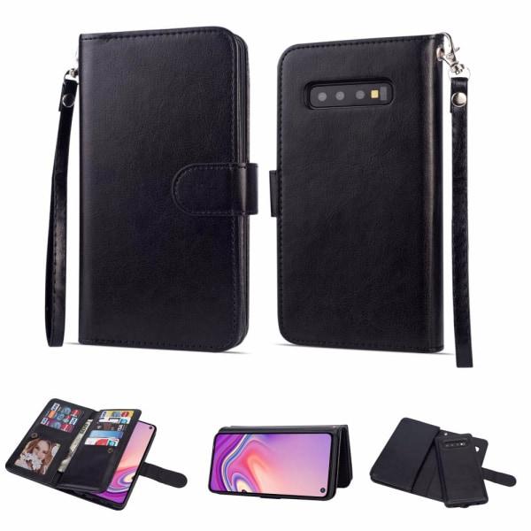 Samsung Galaxy S10 - Robust Plånboksfodral LEMAN Vit