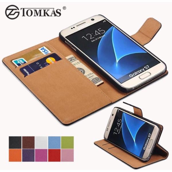 Samsung Galaxy S7 Edge - TOMKAS Stilrena Plånboksfodral Vit