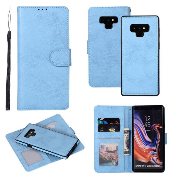 Samsung Galaxy Note 9 - Fodral Dubbelfunktion (LEMAN) Ljusblå