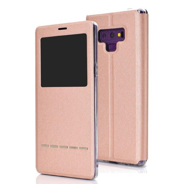 Smartfodral med Fönster & Svarsfunktion - Samsung Galaxy Note 9 Roséguld