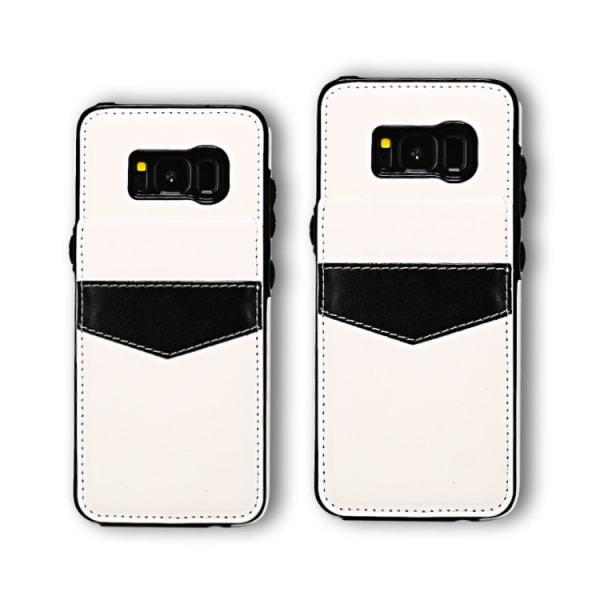 Samsung Galaxy S8 - Läderskal med Plånbok/Kortfack LEMAN Brun