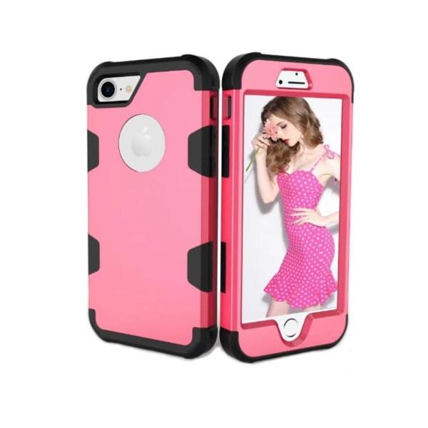 Smart och Stötdämpande Hybridskal (LEMAN) iPhone 8 Rosa/Svart