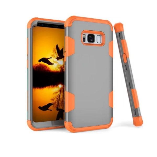 Smart och Stötdämpande Hybridskal (LEMAN) Samsung Galaxy S8+ Grå/Orange