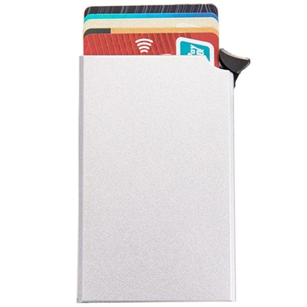 Stilren Smidig RFID-Skydd Korthållare Silver