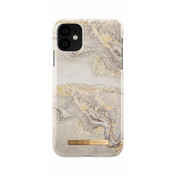 iDeal Of Sweden iPhone 11 - Sparkle Greige Marble Guld