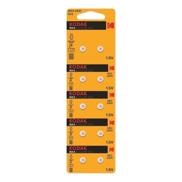 Kodak MAX AG3 / LR41 mikrobatteri Silver