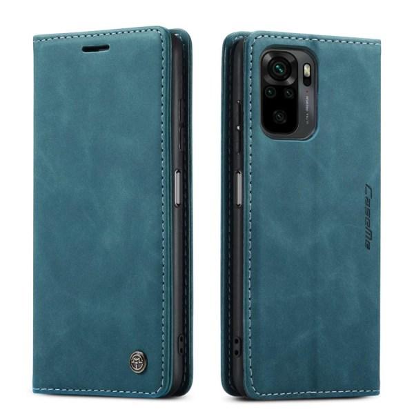 CASEME Retro Wallet Case til Xiaomi Redmi Note 10 4G/Note 10S - Blue