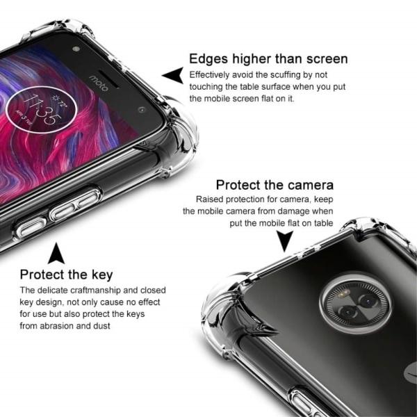 IMAK Tpu + Förstärkt Skärmskydd till Motorola Moto X4 Transparent