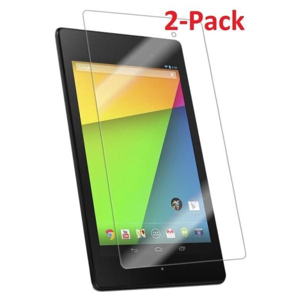"""2x Skärmskydd till Nexus 2nd generation 7"""" Transparent"""