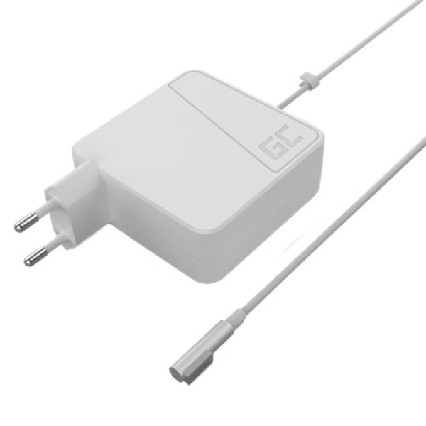 Greencell Nätadapter för Apple Macbook, 60W, Magsafe, 3.65A, vit Vit