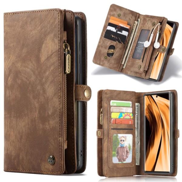 CASEME Samsung Galaxy Note 20 Retro läder plånboksfodral Brun