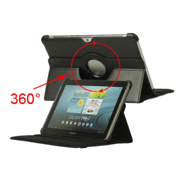"360 Rotation fodral Samsung Tab 2 10,1"" Svart"