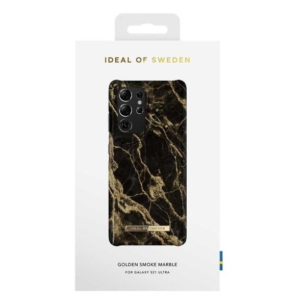 iDeal Of Sweden Samsung Galaxy S21 Ultra Cover - Golden Smoke Mar Black