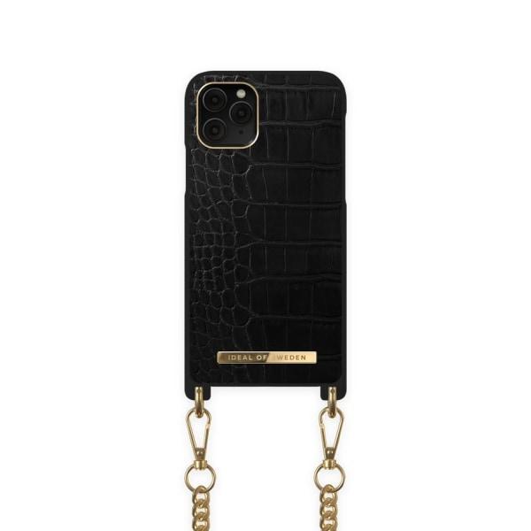 iDeal Of Sweden iPhone 12 / 12 Pro Necklace Case - Jet Black Cro Black