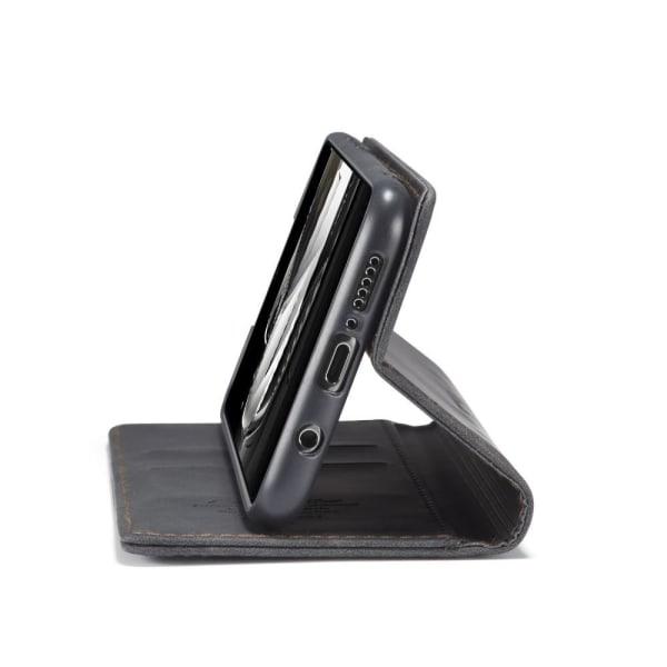 CASEME Retro Wallet Case for Xiaomi Redmi Note 9 Pro Black