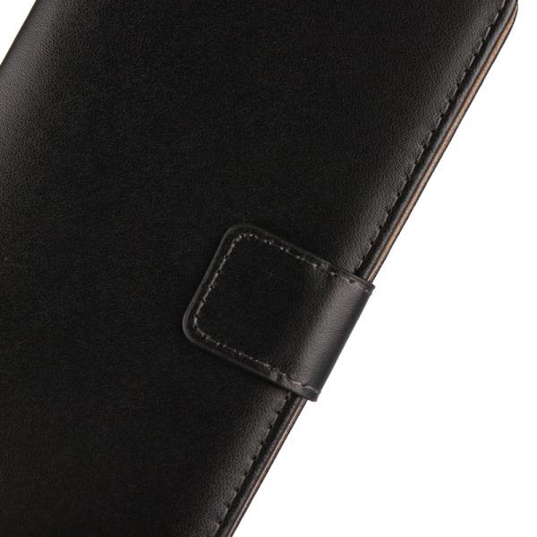 LG V30 Plånboksfodral Splitläder - Svart Svart
