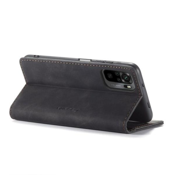 CASEME Retro Lompakkokotelo Xiaomi Redmi Note 10 4G/Note 10S - Black