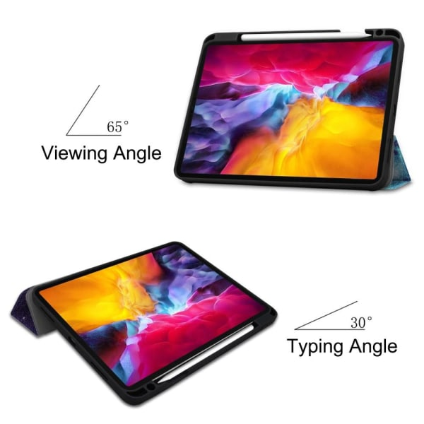 For iPad Pro 11 2021 Tri-fold Stand Tablet Case Cover - Space Multicolor