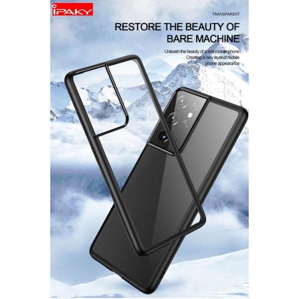 IPAKY Anti-drop Hybrid Shell Case for Samsung Galaxy S21 Ultra Black