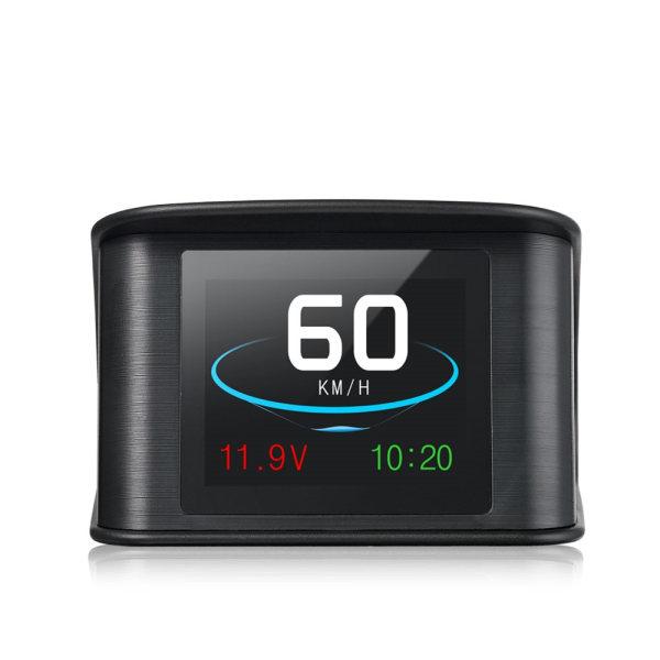 GPS Hastighetsmätare. Digital skärm. Bilhastighetsprojektor Svart