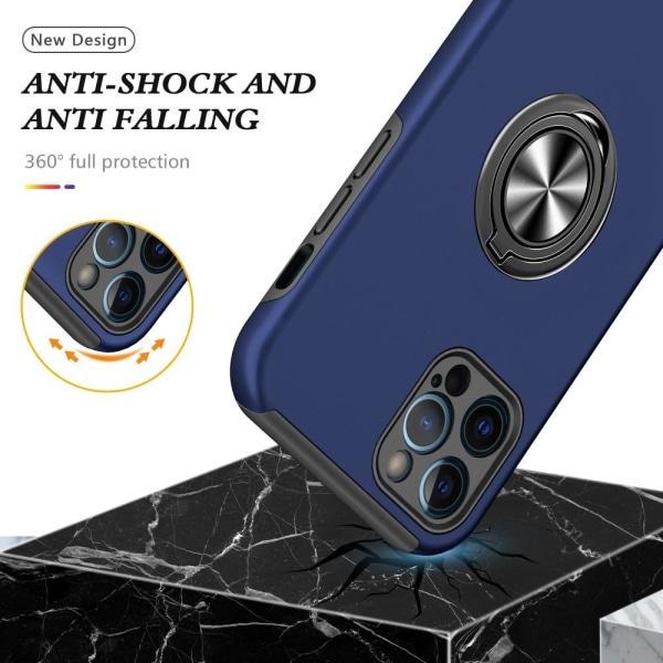 iPhone 13 Sormusrengas Kickstand -hybridikotelo - sininen Blue