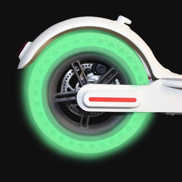 Däck Honeycomb punkteringsfritt Xiaomi M365 Scooter, 2-pack Själ Grön