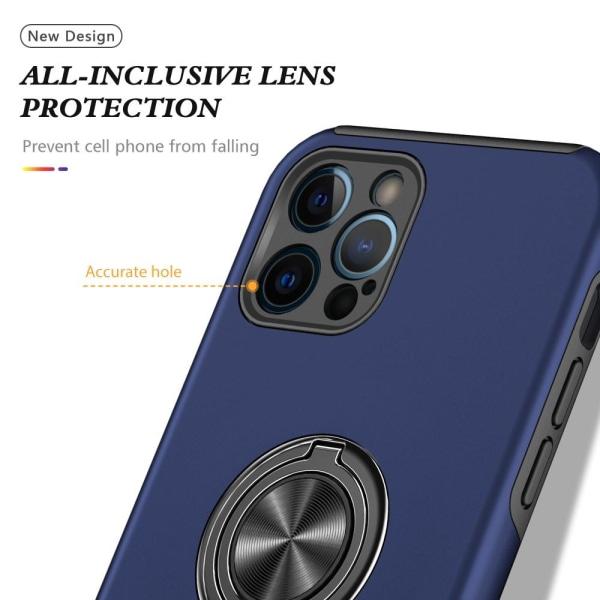 iPhone 13 Mini Finger Ring Kickstand Hybrid Case - Blå Blue
