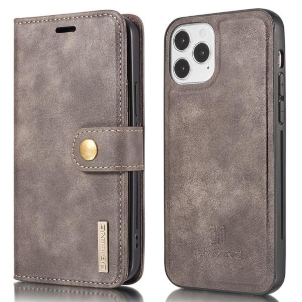 DG.MING iPhone 13 Pro: lle Tyylikäs lompakkokotelo - kahvi Brown