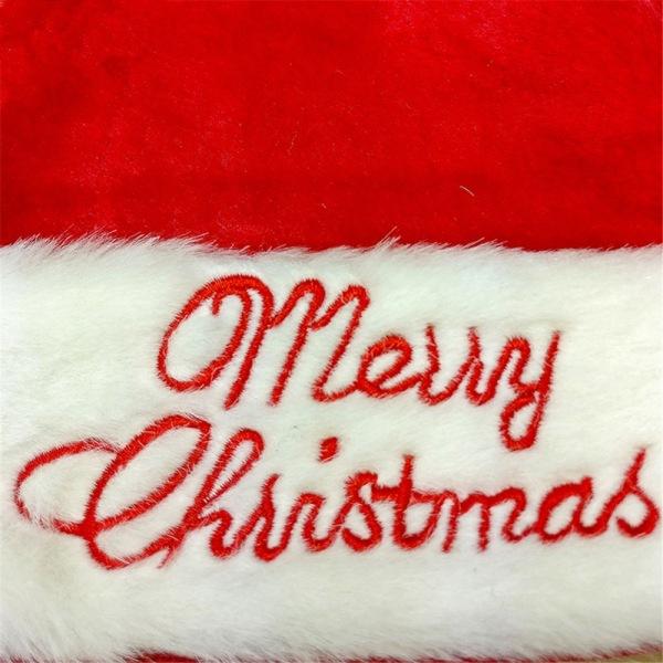 TomteLuva Broderad Merry Christmas Röd