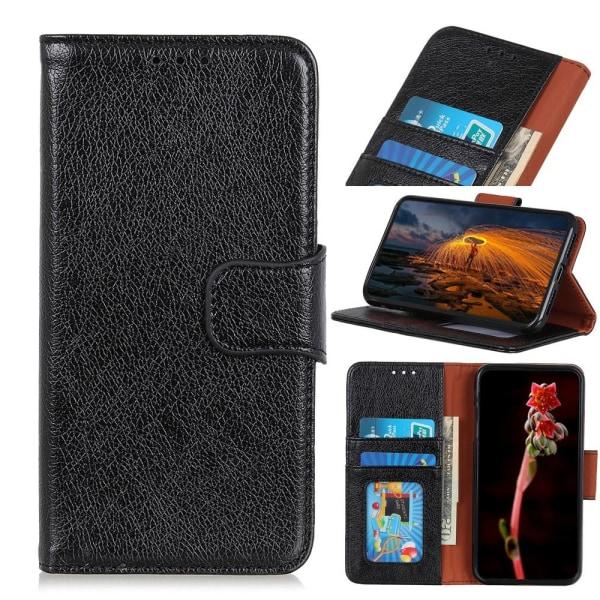 Sony Xperia 1 II  Textured Split Wallet Case - Black Black