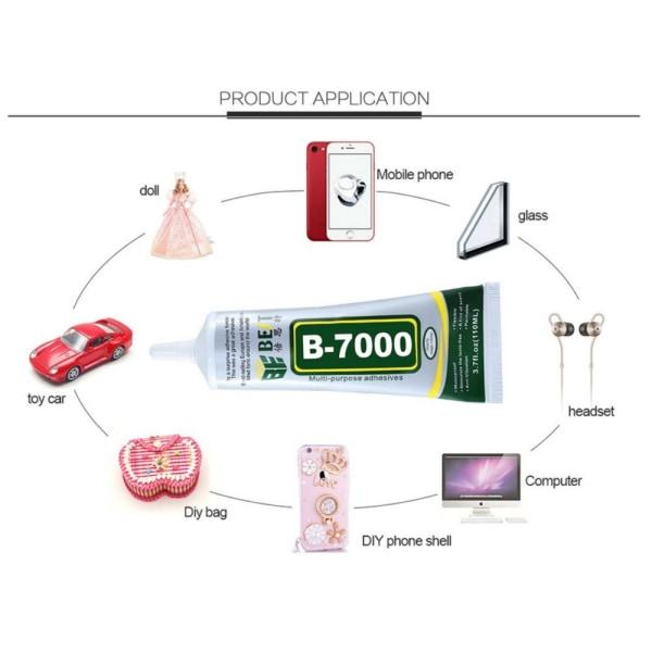 B-7000 Lim Multianvändning glas sten trä etc 50ml Transparent