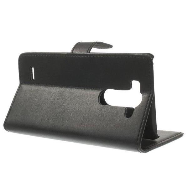 LG G3 S Plånboksfodral Retro Style SVART Svart