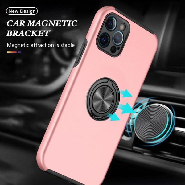 iPhone 13 Sormusrengas Tukijalka Hybridikotelo - Ruusukulta Pink gold