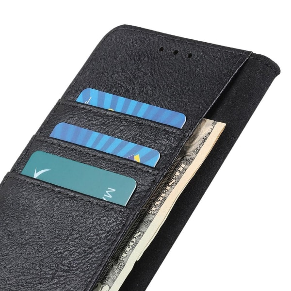 KHAZNEH Wallet Stand Case til Xiaomi Redmi Note 10 4G / Note 10S Black