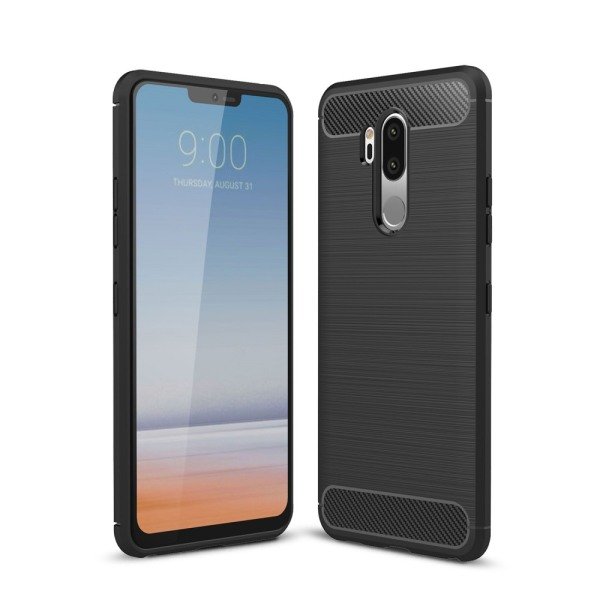 LG G7 ThinQ Karbon fiber Skal - Svart Svart