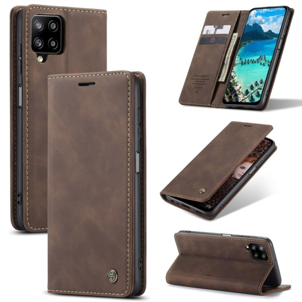 CASEME Plånboksfodral Samsung Galaxy A12 - Coffee Brun