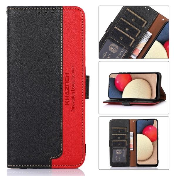 KHAZNEH telefoncover til Xiaomi Redmi Note 10 4G / 10S - rød / sort Black