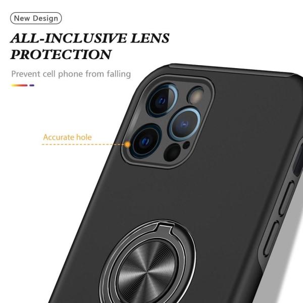 iPhone 13 Mini Finger Ring Kickstand Hybrid Case Black