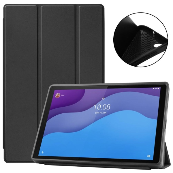 Tri-fold Stand Case for Lenovo Tab M10 HD Gen 2 TB-X306F - Black Black