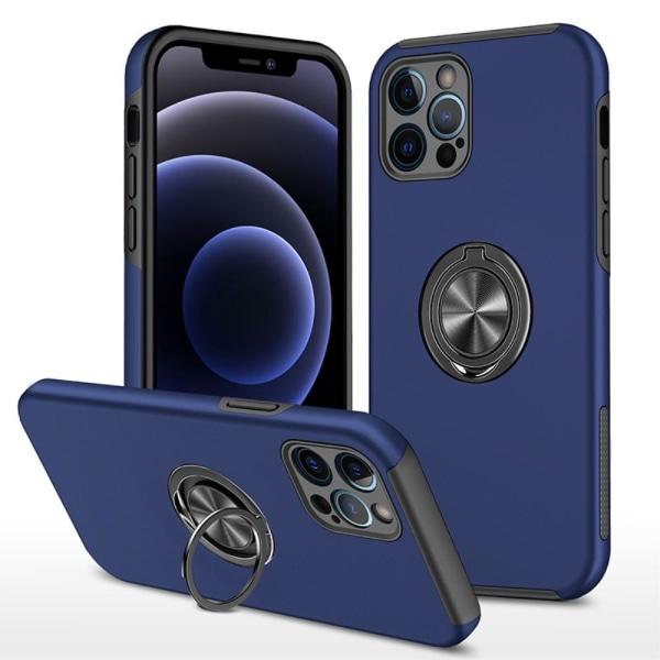 iPhone 13 Pro Finger Ring Kickstand -hybridikotelo - sininen Blue
