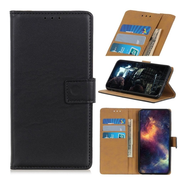 Wallet Stand Case for Sony Xperia 10 II- Black Black